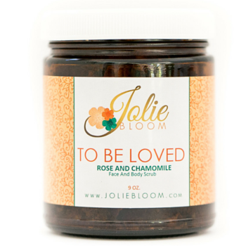 JOLIE BLOOM TO BE LOVE ROSE AND CHAMOMILE FACE AND BODY SCRUB